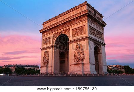 The Triumphal Arch is one of the most famous monuments in Paris. It honors those who fought and died for France.