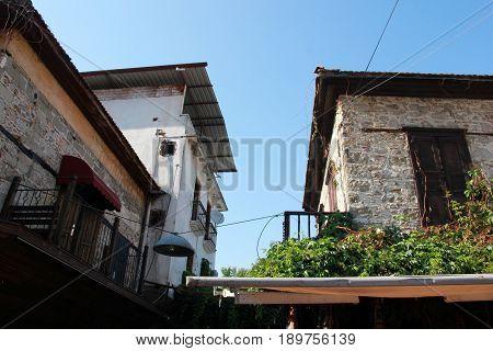 31ST MAY 2017,FETHIYE,TURKEY :Very old housing at Fethiye in Turkey, 31ST MAY 2017