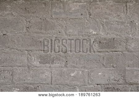 Plastered wall with appearing outlines of expanded clay blocks