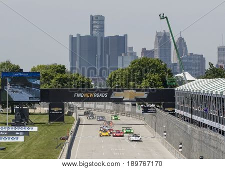 June 03, 2017 - Detroit, Michigan, USA:  The IMSA WeatherTech SportsCar Championship race at the Chevrolet Sports Car Classic at Belle Isle Street Course in Detroit, Michigan.
