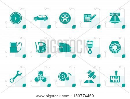 Stylized Car Parts Vector Photo Free Trial Bigstock