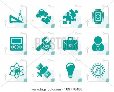 Stylized Science and Research Icons - Vector Icon set