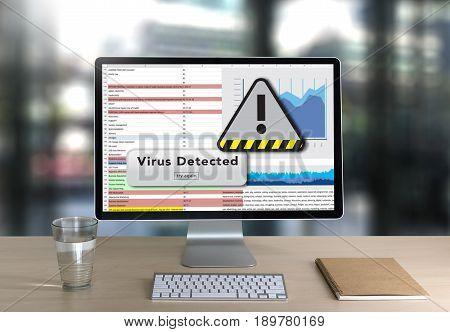 E-mails Hacked Warning Digital Browsing And Virus