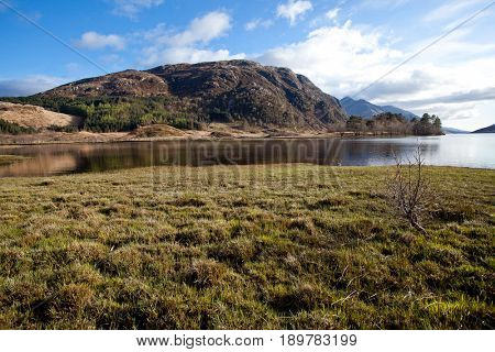 Landscape of Loch Shiel Lake and Reflection Glenn Finnan Highlands Scotland