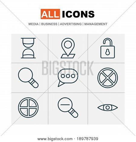 Network Icons Set. Collection Of Glance, Unlock, Positive And Other Elements. Also Includes Symbols Such As Out, Check, Message.