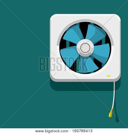 Isolate Ventilator on blue background,Good element for interior design