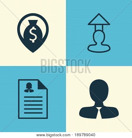 Human Icons Set. Collection Of Female Application, Destination, Money Navigation And Other Elements. Also Includes Symbols Such As Profile, Resume, Female.