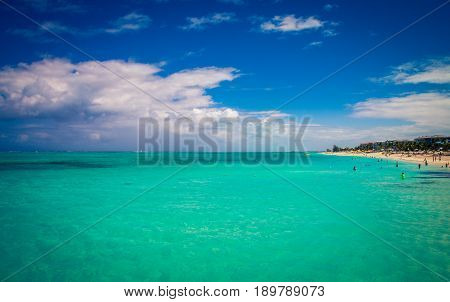 Grace bay beach on the coast of Turks and Caicos