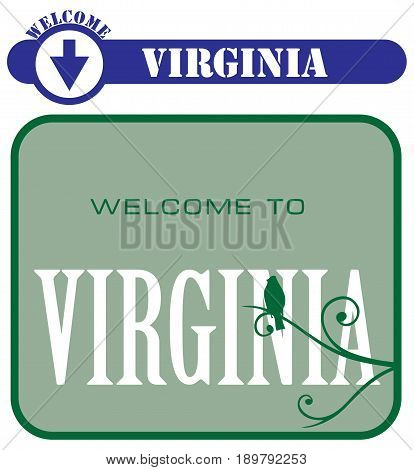 Symbols are pointers for the state of Virginia. Welcome to Virginia