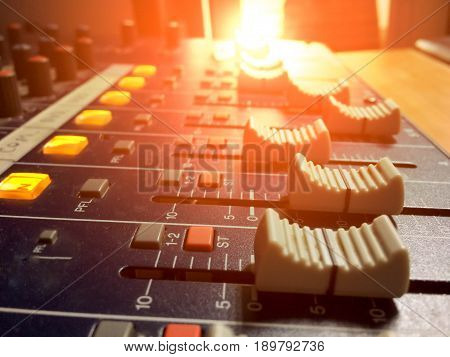 equipment for sound mixer control electornic device