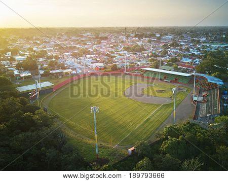 Green Clean Baseball Field