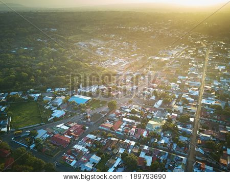 Small Town On Sunny Light