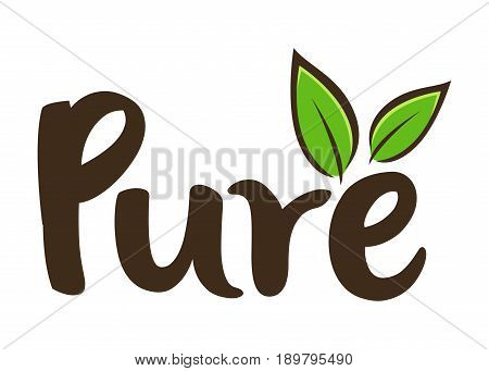 Vector stock of pure word custom lettering typography art