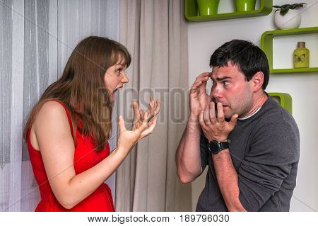 Couple Having Argument - Family Quarrel Concept