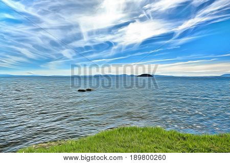 On the shores of Lake Taupo in New Zeland