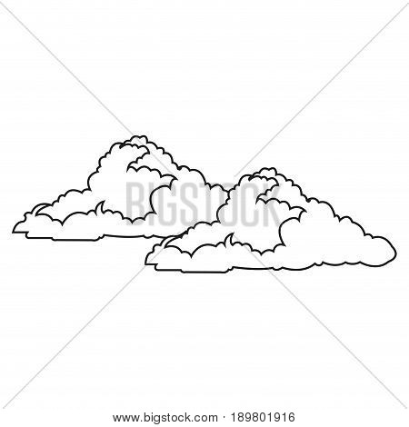 cloud floats cool single weather icon vector illustration