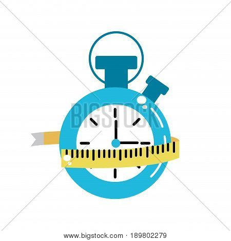 chronometer with meter to practice exercise vector illustration
