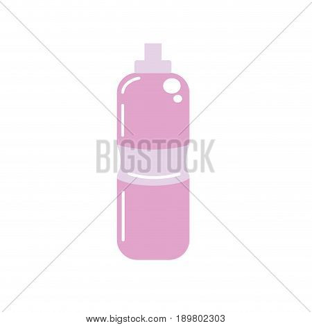 bottle of water to reshness in the gym vector illustration