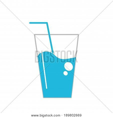 water glass to freshness and healthylife vector illustration