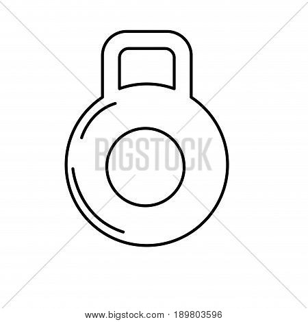 line dumbbell to do exercise and healthy lifestyle vector illustration