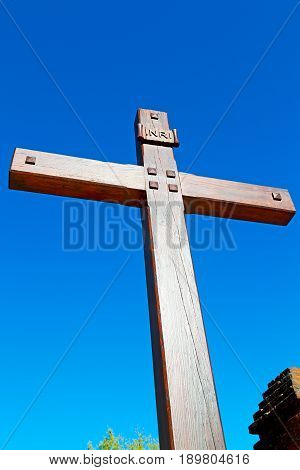 Catholic     Abstract    Cross  And The Sky Background