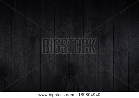 Noir elegance black wooden board background. Wood texture.
