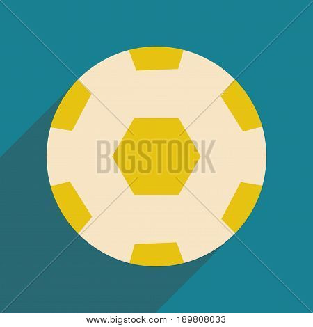 Flat with shadow icon and mobile application soccer ball