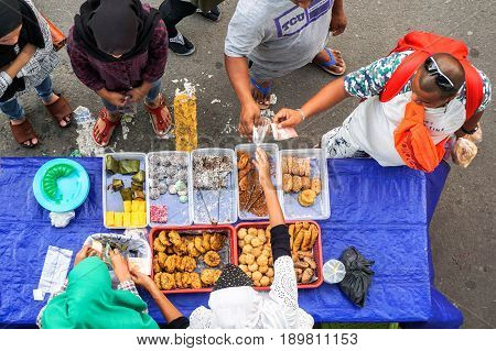 Kota Kinabalu, Sabah, Malaysia-May 28,2017:Street local foods in Kota Kinabalu, Sabah, Borneo.Kota Kinabalu is known as one of the most vibrant & popular food capitals in the Sabah,Borneo,Malaysia,Asia.