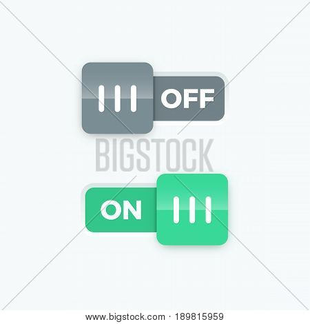 On Off switch slider, vector illustration graphic