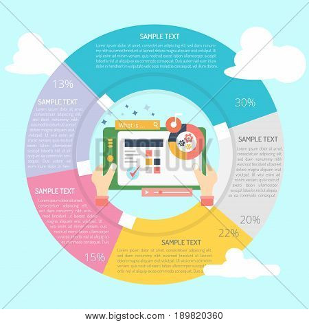 Software Demo Infographic | set of vector diagram illustration use for presentation, business, marketing and much more.The set can be used for several purposes like: websites, print templates, presentation templates, and promotional materials.