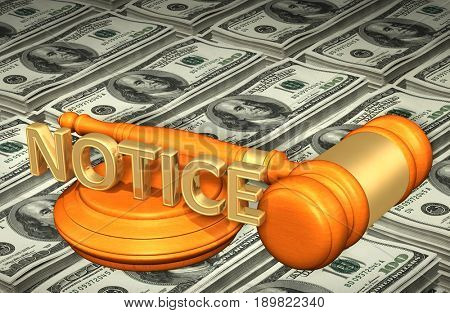 Notice Law Concept 3D Illustration