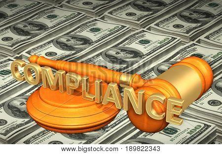 Compliance Law Concept 3D Illustration