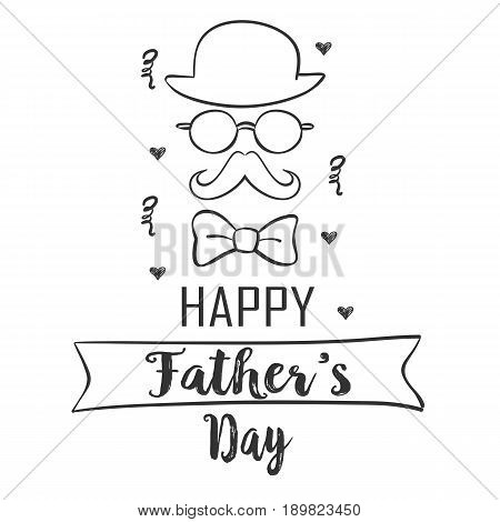 Collection stock father day doodle style vector art