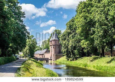 Medieval castle De Haar in Netherlands, Europe