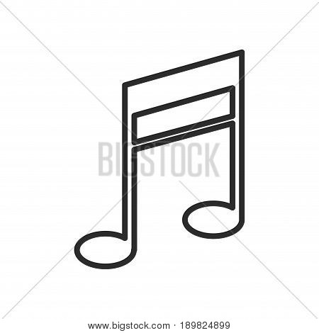 note music melody sound icon vector illustration