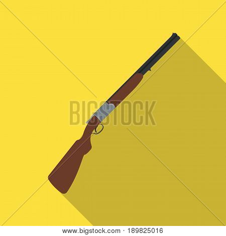 Hunting rifle.African safari single icon in flat style vector symbol stock illustration .