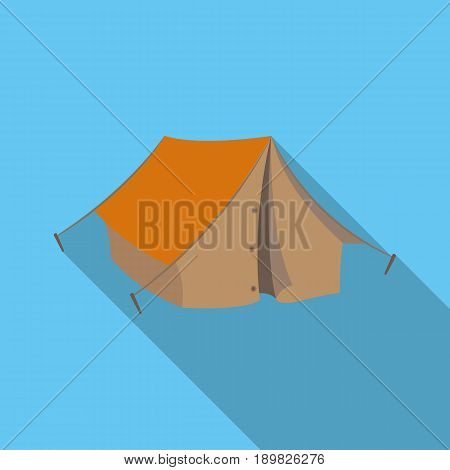 Tourist tent.African safari single icon in flat style vector symbol stock illustration .