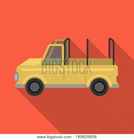 Machine for safari.African safari single icon in flat style vector symbol stock illustration .