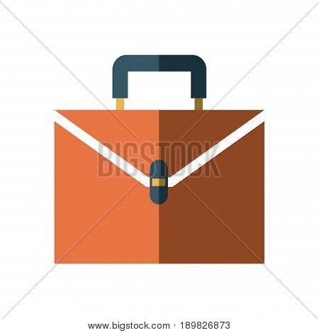 business suitcase portfolio document paper work vector illustration