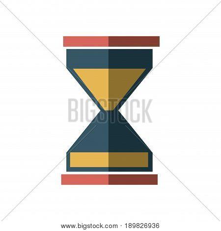 business sand clock icon glass timer symbol vector illustration