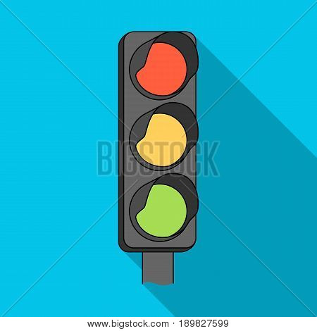 Traffic light for vehicles.Car single icon in flat style vector symbol stock illustration .