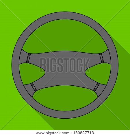 Steering wheel.Car single icon in flat style vector symbol stock illustration .