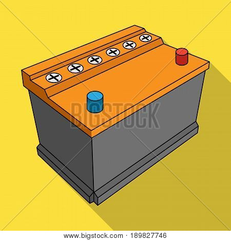 For automobile battery.Car single icon in flat style vector symbol stock illustration .