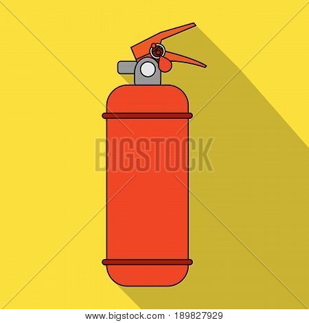 Fire extinguisher powder.Car single icon in flat style vector symbol stock illustration .