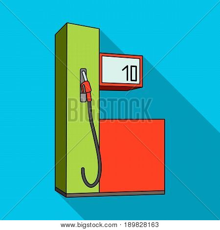 Gas station for cars.Car single icon in flat style vector symbol stock illustration .