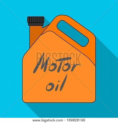 Can of engine oil.Car single icon in flat style vector symbol stock illustration .