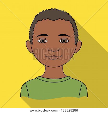 African.Human race single icon in flat style vector symbol stock illustration .
