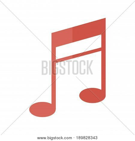 music note melody sound harmony icon vector illustration