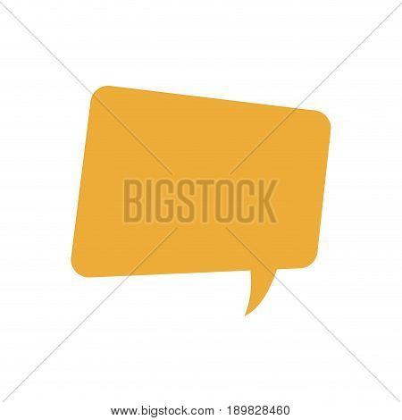 yellow bubble speech message talk chat icon vector illustration