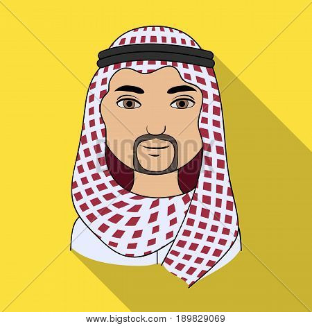 Arab.Human race single icon in flat style vector symbol stock illustration .